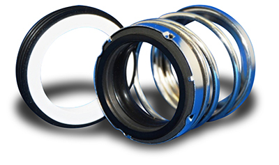 Picture of the Fluidol Style 73 Elastomer Bellows Single Spring Seals.