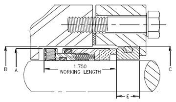 Engineer drawing of the Fluidol Style 80 High Pressure Inside Component Seals.