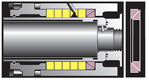 A CAD illustration of the inside of the Fluidol Wedgee seal.